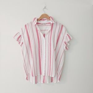 Madewell Central Ruffle-Sleeve Shirt